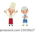 곤란한 표정의 요리사와 요리사 23630627