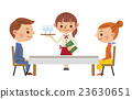 餐廳形象(男女情侶和女服務員) 23630651