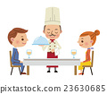 餐廳形象(廚師攜帶烹飪和男女情侶) 23630685