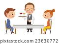 餐廳形象(服務員提供飲料和男女情侶) 23630772