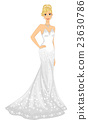 Girl Strapless Bridal Gown 23630786