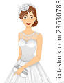 Girl Bridal Gown Headdress Bag 23630788