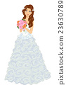 Girl Bridal Gown Ruffles Bouquet 23630789
