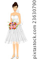 Girl Bridal Short Gown Bouquet 23630790