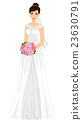 Girl Bride Gown Bouquet 23630791