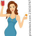 Girl Beer Pong Play 23630797