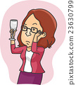Girl Glass Inspect Wine 23630799