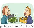 Man Money Exchange Ballot Box 23630824