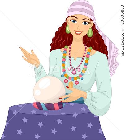 Psychic Girl Gypsy Crystal Ball 23630833