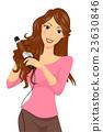 Girl Curl Iron Hair 23630846