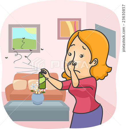 Girl Spray Insecticide Home 23630857