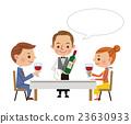 餐廳形象(葡萄酒攜帶葡萄酒和男女情侶·氣球) 23630933