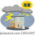 lightning strike, thunder, residential 23631007