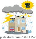 hail, thunderbolt, residential 23631157