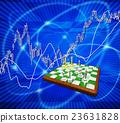 체스 바둑판 체스와 주식 시장 23631828