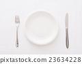 하얀 접시 23634228