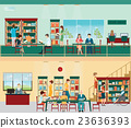 Various character of people in Bookstore. 23636393
