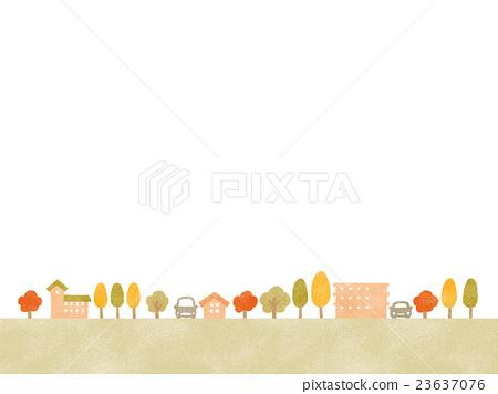 秋季城市景觀(房子) 23637076
