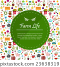 Vegetables and fruits banner Illustration 23638319