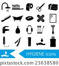 hygiene theme modern simple black icons set eps10 23638580