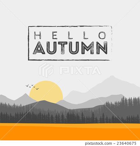 Vector of autumn landscape 23640675