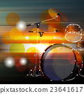 abstract grunge background with drum kit 23641617