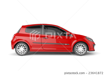 Samll car mock up on white background 23641872