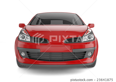 Samll car mock up on white background 23641875