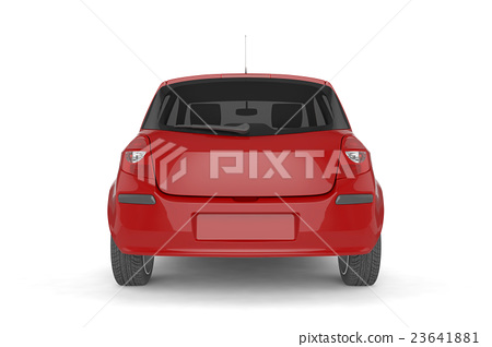 Samll car mock up on white background 23641881