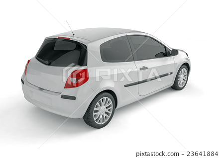 Samll car mock up on white background 23641884