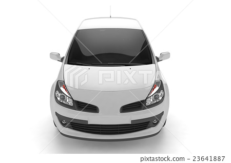 Samll car mock up on white background 23641887