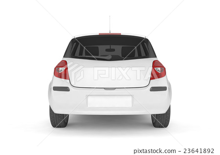 Samll car mock up on white background 23641892