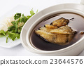 Shark fin soup in hot bowl 23644576