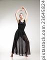 Young ballet dancer wearing black transparent 23645824