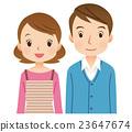 젊은 부부 표정 남녀 23647674