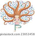 소녀, 나무, 요가 23653458