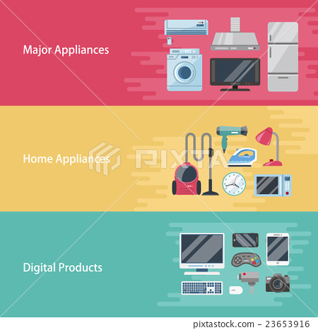 Appliance Banner Design Stock Illustration 23653916