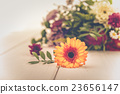 Fragrant flowers on wooden background 23656147