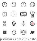 Alarm clock icon sets vector symbol. 23657365