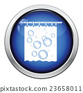 Bath curtain icon 23658011