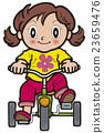 三輪車 女孩 年輕的女孩 23659476