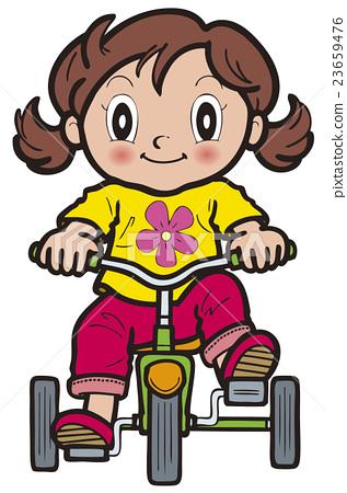 세발 자전거, 여자아이, 소녀 23659476
