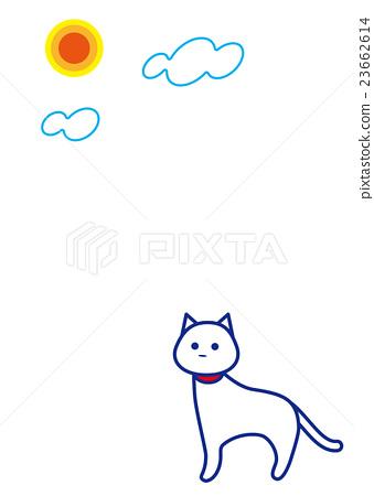 White cat's day 23662614
