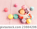 Macaron on wood table, Vintage style. 23664206