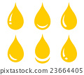set of glossy oil drop 23664405