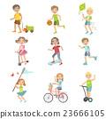 Kids Playing Outside Set 23666105
