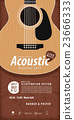 Guitar, Musical instrument design poster vector. 23666333