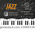 Keyboard, Musical instrument design poster vector. 23666338