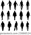 Black silhouettes of beautiful mans and womans  23666524