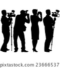 Cameraman with video camera. Silhouettes  23666537